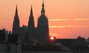 Walking in Prague