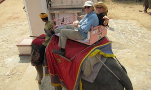 Riding an Elephant in Rajasthan