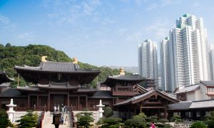 Visiting the Chi Lin Nunnery in Hong Kong