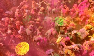 Celebrating New Beginnings Colorfully in India at Holi Festival