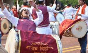 "Hindu Parade ""Granth Dindi""  takes over Downtown Grand Rapids"