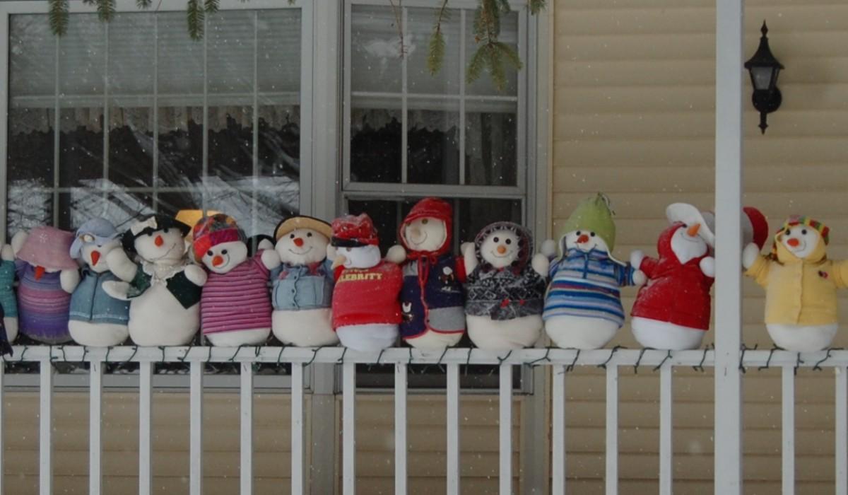 The  Line Up–Winter Scene in Michigan