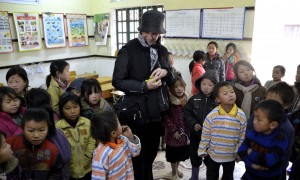 Visiting a school in the mountains of North Vietnam