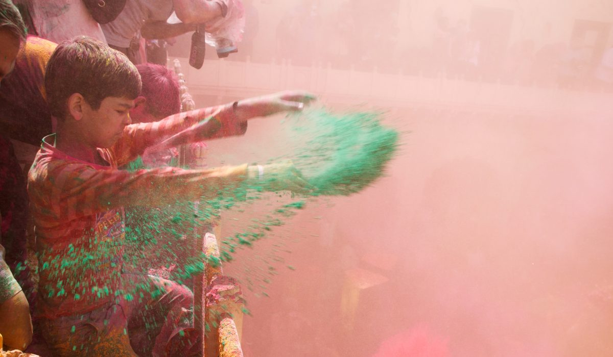 A Holi Moment in India