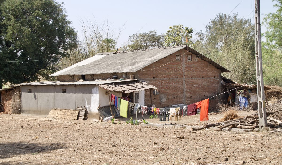 Visiting the villages near Kavant, India