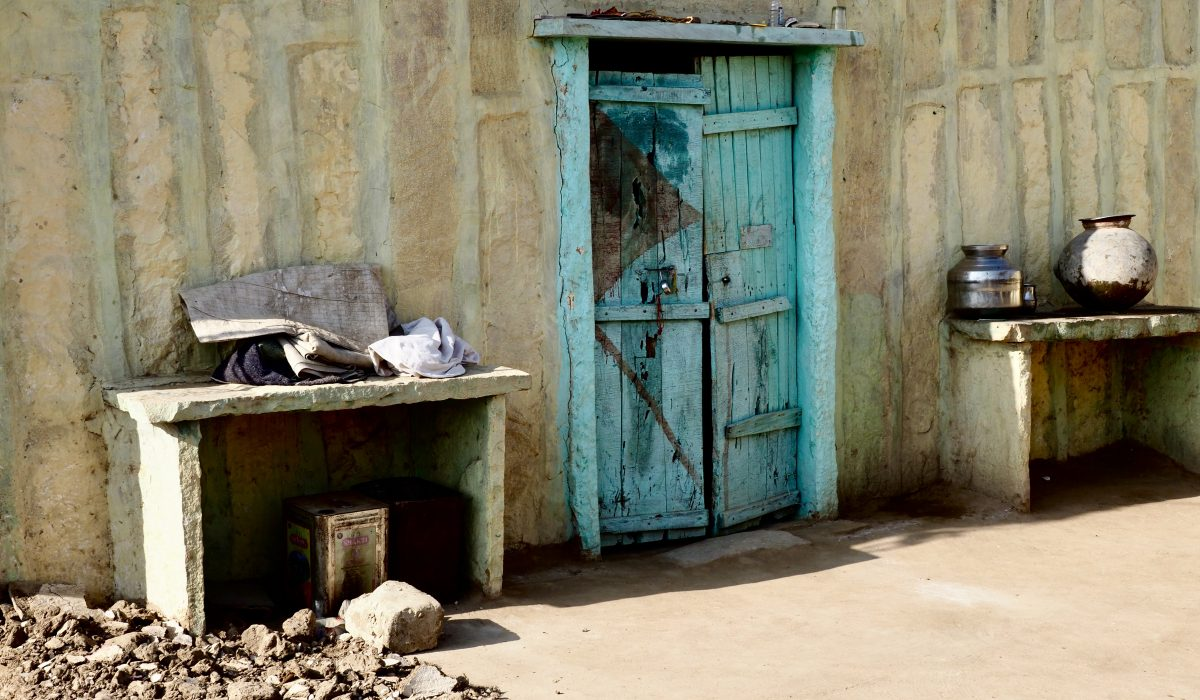 Visiting small villages in the desert in India