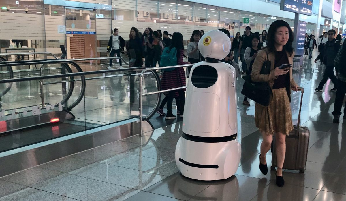Encounter with a Robot in Seoul